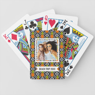 Add Your Name | Geometric Pineapples Bicycle Playing Cards