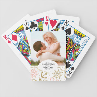 Add Your Name | Golden Anchor Pattern Poker Deck