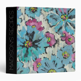 Add Your Name | Graphic Pink and Blue Floral Binders