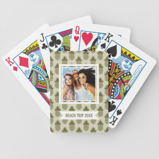 Add Your Name | Khaki Pineapple Pattern Bicycle Playing Cards