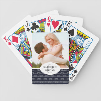 Add Your Name   Marine Knots Pattern Bicycle Playing Cards