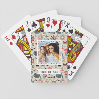 Add Your Name | Marine Life Pattern Poker Deck
