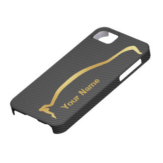 Add your name - Mitsubishi EVO gold silhouette iPhone 5 Cases