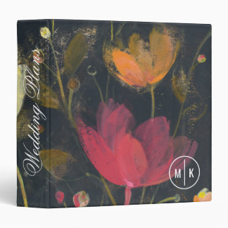 Add Your Name | Moonlight Garden on Black 3 Ring Binder