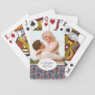 Add Your Name | Nautical Anchors And Rope Pattern Playing Cards