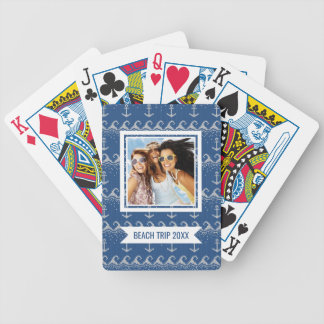 Add Your Name | Nautical Knit Pattern Bicycle Playing Cards