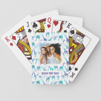 Add Your Name | Neon Giraffes Playing Cards