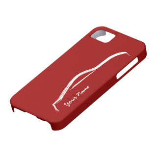 """""""add your name"""" Nissan 370z on Red Background iPhone 5 Cases"""