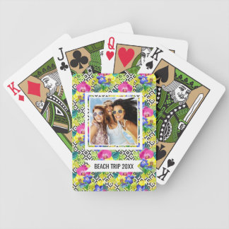 Add Your Name | Orchid Begonia And Palm Leaves Poker Deck