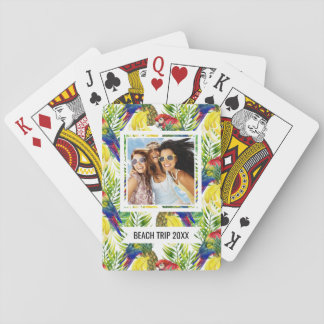 Add Your Name | Parrots And Tropical Fruit Playing Cards