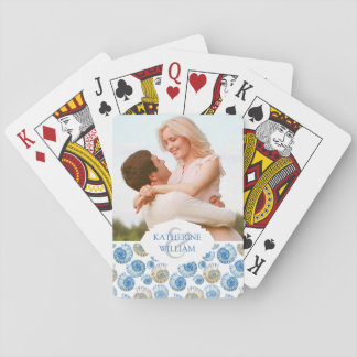 Add Your Name | Pastel Seashell Pattern Playing Cards