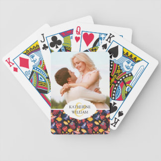 Add Your Name | Pattern Of The Lovers Frogs Bicycle Playing Cards
