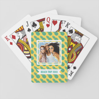 Add Your Name | Pineapple Pattern Playing Cards