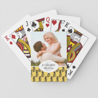 Add Your Name | Pineapple Zigzags Playing Cards