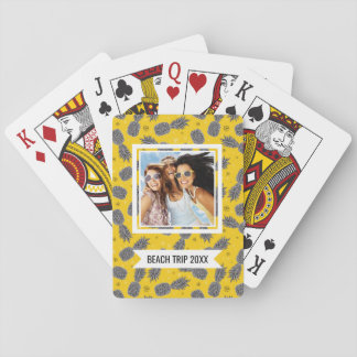 Add Your Name | Pineapples On Gold Playing Cards