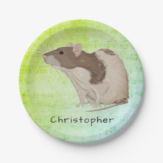 Add Your Name Rat Design Paper Plate