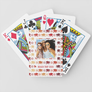 Add Your Name | Red Monkeys Pattern Poker Deck