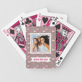 Add Your Name | Retro Flamingos Poker Deck
