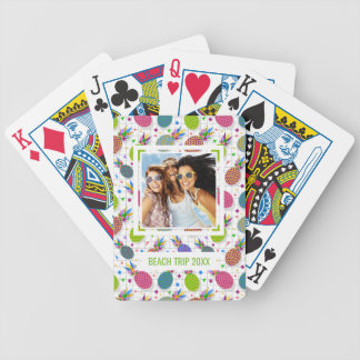 Add Your Name | Retro Pineapple Pattern Poker Deck