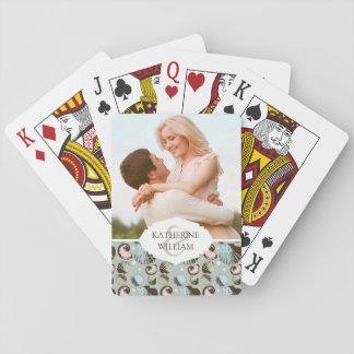 Add Your Name | Retro Seashell Pattern Poker Deck