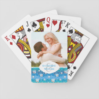Add Your Name | Rocky Sea Pattern Playing Cards