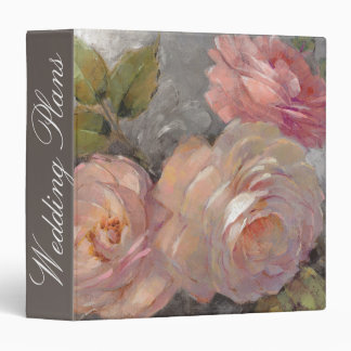 Add Your Name | Roses with Gray Vinyl Binders