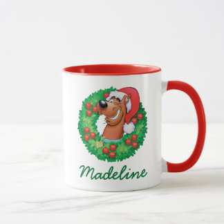 Add Your Name | Scooby in Wreath Mug