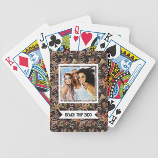 Add Your Name   Shabby Sea Life Pattern Bicycle Playing Cards