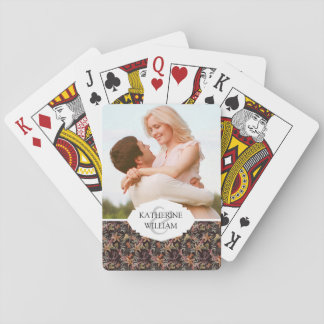 Add Your Name | Shabby Sea Life Pattern Playing Cards