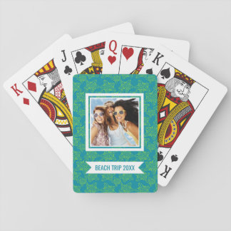 Add Your Name | Starfish Crowd Pattern | Monogram Playing Cards