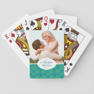 Add Your Name | Starfish Crowd Pattern | Monogram Poker Deck