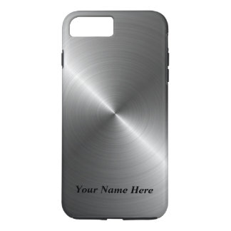 Add Your Name Steel Metal Look iPhone 8 Case