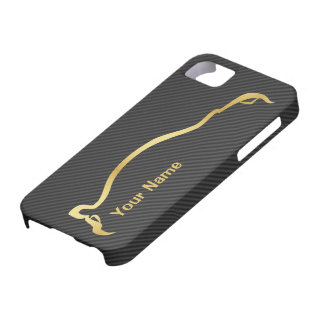 """add your name"" STI Impreza Gold Silhouette iPhone 5 Covers"