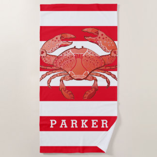 Add Your Name | Style Crab Beach Towel