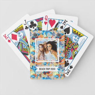 Add Your Name | Summer Fun Pattern Bicycle Playing Cards