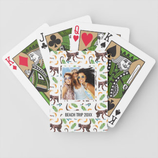 Add Your Name | Sweet Monkeys Juggling Bananas Poker Deck