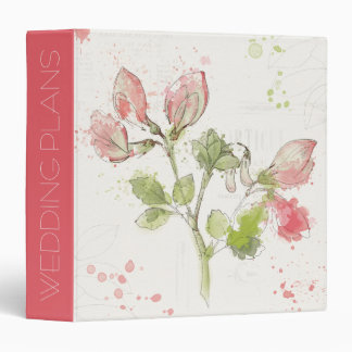 Add Your Name | Sweet Pea watercolor 3 Ring Binder