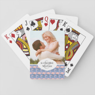 Add Your Name | Tender Flamingo Pattern Playing Cards