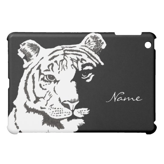 add your name to this tiger iPad Mini case
