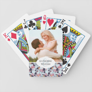 Add Your Name | Toucans With Exotic Flowers Bicycle Playing Cards