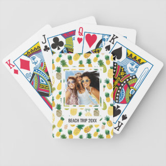 Add Your Name | Trendy Pineapple Pattern Bicycle Playing Cards