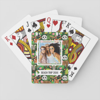 Add Your Name | Tropical Animal Mix Poker Deck