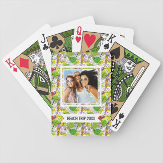 Add Your Name | Tropical Parrots Bicycle Playing Cards