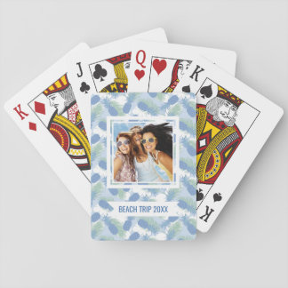Add Your Name | Tropical Pastel Pineapple Pattern Playing Cards