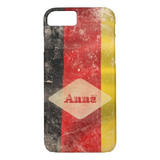 Add your name vintage german flag iphone 7 case