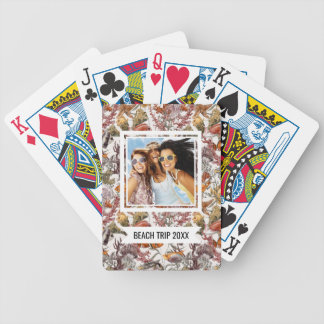Add Your Name | Watercolor Sea Life Pattern 2 Bicycle Playing Cards