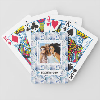 Add Your Name | Watercolor Shells Bicycle Playing Cards