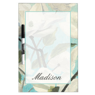 Add Your Name | White Blossoms from the South Dry Erase Boards