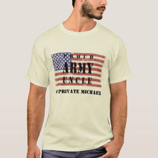 Add Your Nephew's Name Proud Army Uncle Shirt