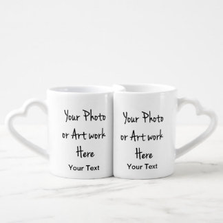 Add Your Own Art, Photo, Text Coffee Mug Set